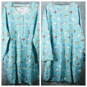 The Paragon Flannel Cat Nightgown Plus Size 3X